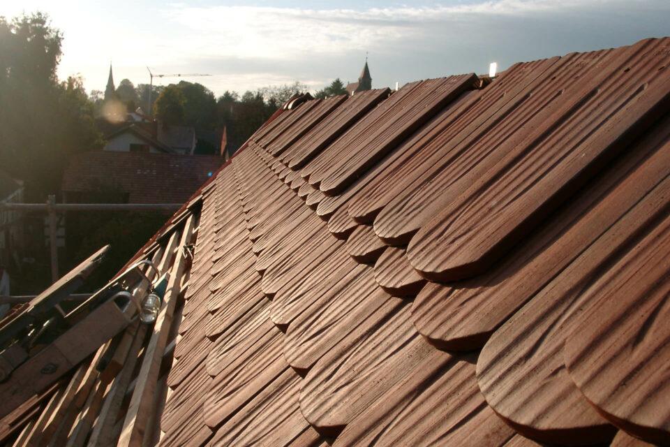 Klempner- udn Dachdeckerarbeiten am Fachwerkhaus