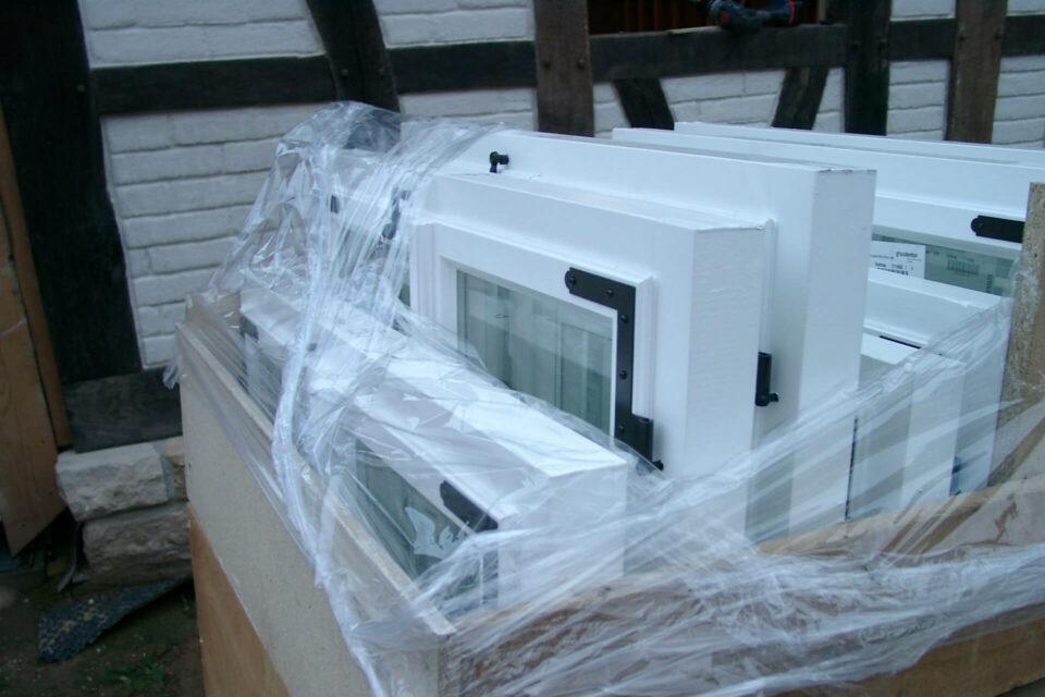 Fenstereinbau Fachwerkhaus