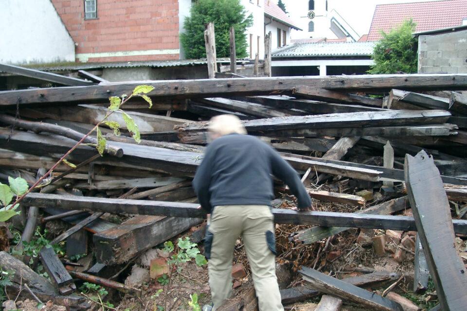 Holzbeschaffung Scheune Offenbach
