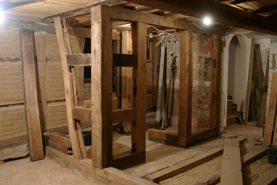 Innenfachwerk Holzarbeiten Fachwerkhaus